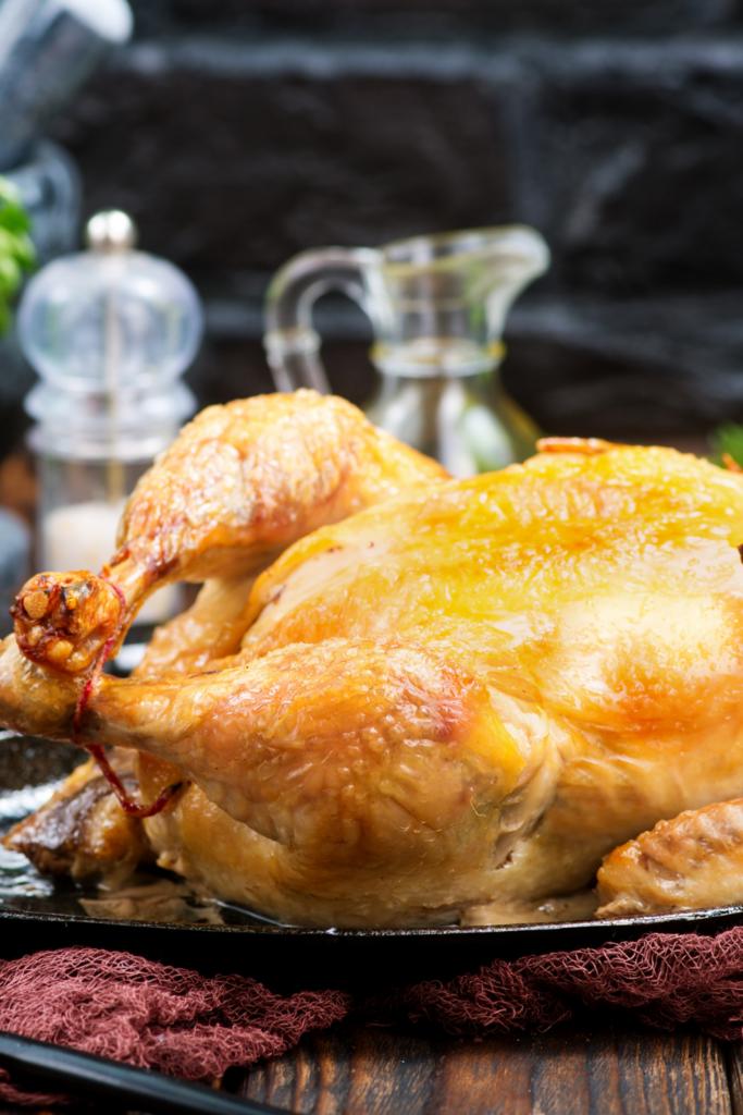 A whole baked turkey.