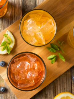 featured image for flavored sweet tea recipes post.