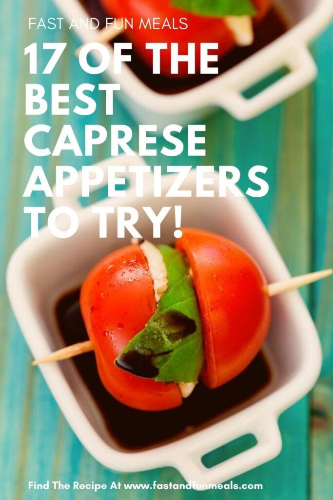 17 caprese appetizers